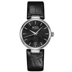 Moteriškas laikrodis su juoda odine apyranke kaina ir informacija | Moteriški laikrodžiai | pigu.lt