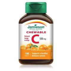 Maisto papildas su cukrumi ir saldikliu Jamieson C 500 mg N100 kaina ir informacija | Vitaminai ir maisto papildai grožiui | pigu.lt