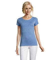 Marškinėliai su apvalia iškirpte Mixed Women, mėlyni kaina ir informacija | Marškinėliai moterims | pigu.lt