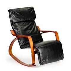 Supamas krėslas NORE, juodas kaina ir informacija | Svetainės foteliai | pigu.lt