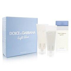 Rinkinys Dolce & Gabbana Light Blue: EDT moterims 100 ml + kūno losjonas 100 ml + dušo gelis 100 ml