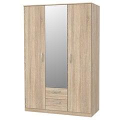 Spinta su veidrodžiu Selsey Mercurum, 122,6 cm, ąžuolo spalvos kaina ir informacija | Spintos | pigu.lt
