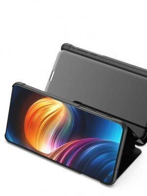 Telefono dėklas Hallo Clear View Book Case, skirtas Xiaomi Xiaomi Redmi 8, juodas internetu