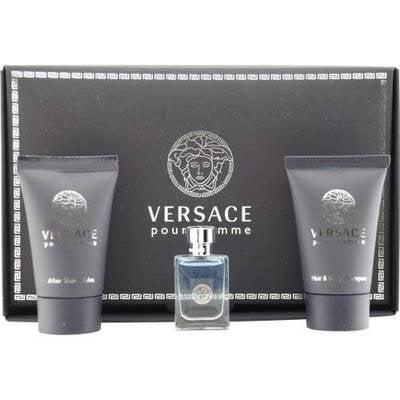 Rinkinys Versace Pour Homme: EDT vyrams 5 ml + dušo gelis 25 ml + balzamas po skutimosi 25 ml kaina ir informacija | Kvepalai vyrams | pigu.lt