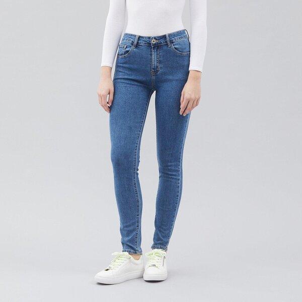 Slim fit женксие непотертые джинсы цена