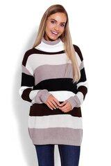 Megztinis moterims PeeKaBoo 123473, rudas kaina ir informacija | Megztiniai moterims | pigu.lt