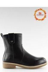 Aulinukai moterims Inello 124332, juodi kaina ir informacija | Aulinukai, ilgaauliai batai moterims | pigu.lt