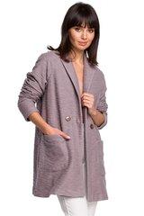 Paltas moterims BE 128270, violetinis kaina ir informacija | Paltai moterims | pigu.lt