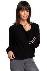 Džemperis moterims BE Knit 129137, juodas kaina ir informacija | Džemperiai moterims | pigu.lt