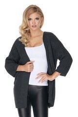 Kardiganas moterims PeeKaBoo 134616, pilkas kaina ir informacija | Megztiniai moterims | pigu.lt