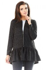 Kardiganas moterims Awama 139957, pilkas kaina ir informacija | Megztiniai moterims | pigu.lt