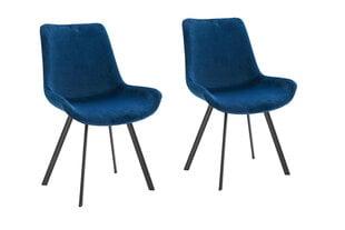 Modernus kėdžių komplektas Rose, tamsiai mėlynas aksomas kaina ir informacija | Virtuvės ir valgomojo kėdės | pigu.lt