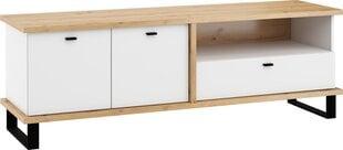 TV staliukas Meblocross Cross Cro-20 2D1S, rudas/baltas kaina ir informacija | TV staliukai | pigu.lt