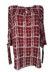 Marškinėliai moterims, bordo kaina ir informacija | Marškinėliai moterims | pigu.lt