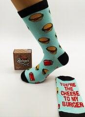 Kojinės vyrams Burger socks, You're the cheese to my burger kaina ir informacija | Kojinės vyrams Burger socks, You're the cheese to my burger | pigu.lt