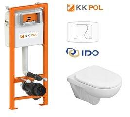 WC komplektas IDO/Aqua ECO: potinkinis rėmas + klozetas + dangtis + mygtukas kaina ir informacija | Klozetai | pigu.lt