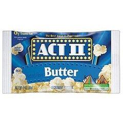 Spraginamieji kukurūzai ACT II, sviesto skonio, 78 g kaina ir informacija | Užkandžiai, traškučiai | pigu.lt