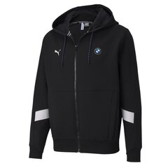 Džemperis vyrams Puma BMW MMS Hooded Sweat Jacket Puma Black - 59609701, juodas kaina ir informacija | Džemperiai vyrams | pigu.lt