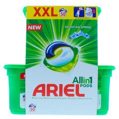Želinės skalbimo kapsulės Ariel All in 1 Pods Mountain Spring, 50 kapsulių kaina ir informacija | Skalbimo priemonės | pigu.lt