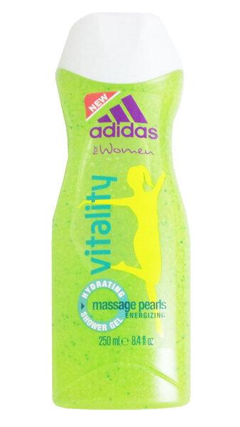 Dušo želė Adidas Vitality moterims 250 ml kaina ir informacija | Dušo želė, muilas | pigu.lt