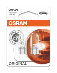Automobilinės lemputės Osram Original Line W2.1x9.5d, 2 vnt.