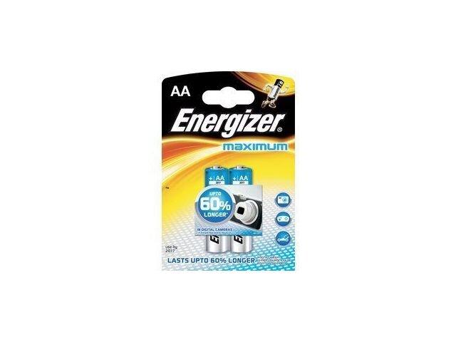 Elementai ENERGIZER MAXIMUM AA 2vnt kaina ir informacija | Elementai | pigu.lt