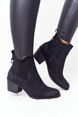 Aulinukai moterims Trinity, juodi kaina ir informacija | Aulinukai, ilgaauliai batai moterims | pigu.lt