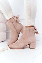 Aulinukai moterims Kayla, rožiniai kaina ir informacija | Aulinukai, ilgaauliai batai moterims | pigu.lt