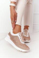 Laisvalaikio batai moterims Lu Boo, auksiniai kaina ir informacija | Sportiniai bateliai, kedai moterims | pigu.lt