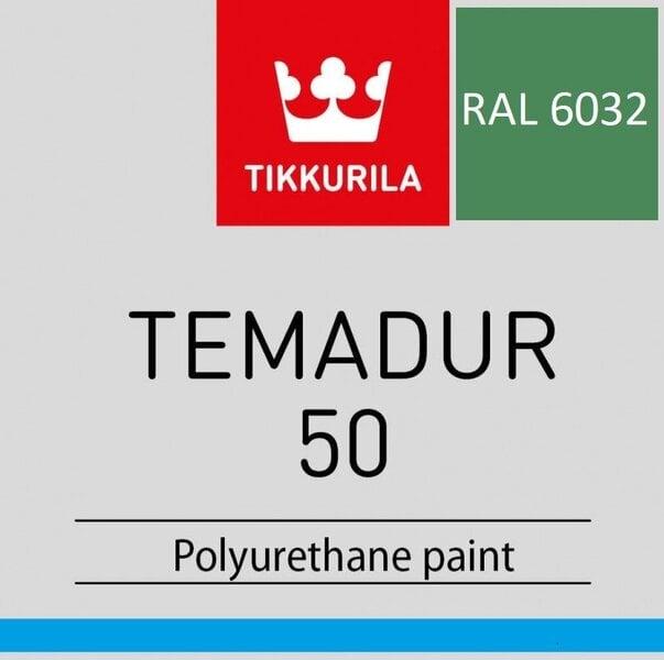 Metaliniai dažai värv Tikkurila Temadur 50 RAL 6032 Signal Green 1L цена