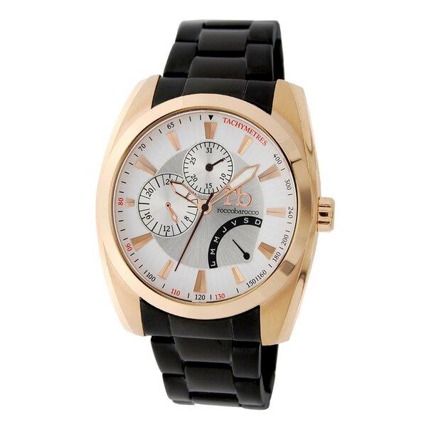 Vyriškas laikrodis Roccobarocco Chilton Gold White kaina ir informacija | Vyriški laikrodžiai | pigu.lt