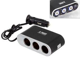 Auto pridegėjas In-car - USB + on/off jungtukas kaina ir informacija | Automobilių 12V el. priedai | pigu.lt