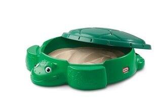 Smėlio dėžė su dangčiu Vėžlys (žalia) kaina ir informacija | Smėlio dėžės, smėlis | pigu.lt