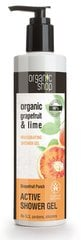 Energizuojanti dušo želė Organic Shop Grapefruit and lime 280 ml kaina ir informacija | Energizuojanti dušo želė Organic Shop Grapefruit and lime 280 ml | pigu.lt