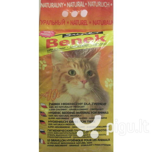 Bentonitinis kačių kraikas Super Benek 10 L kaina ir informacija | Kraikas katėms | pigu.lt
