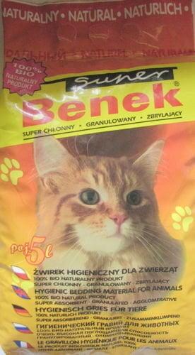 Bentonitinis kačių kraikas Super Benek Natūralus 5 L kaina ir informacija | Kraikas katėms | pigu.lt
