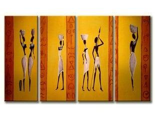 Keturių dalių pieštas paveikslas Afrika kaina ir informacija | Reprodukcijos, paveikslai | pigu.lt