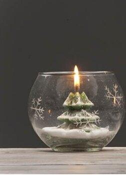 Kalėdinė žvakė Eglutė kaina ir informacija | Kalėdinės dekoracijos | pigu.lt