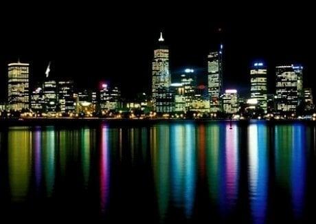 Perth at night kaina ir informacija | Fototapetai | pigu.lt