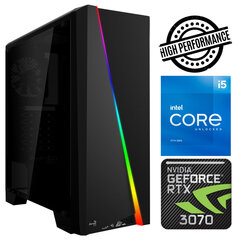 INTOP i5-11600K 8GB 240SSD M.2 NVME+2TB RTX3070 8GB no-OS kaina ir informacija | Stacionarūs kompiuteriai | pigu.lt