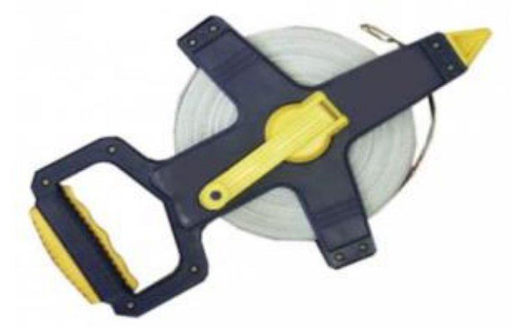 Ruletė 50 m su stiklo audinio juosta Rexxer RE-01-091:R kaina ir informacija | Mechaniniai įrankiai | pigu.lt