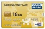Atmintinė GoodRam Gold CREDIT CARD 16GB, USB 2.0