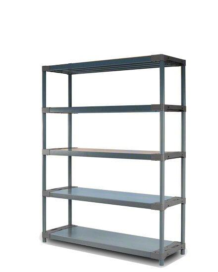 Plastikinis stelažas JUPITER-5-120 kaina ir informacija | Sandėliavimo lentynos | pigu.lt