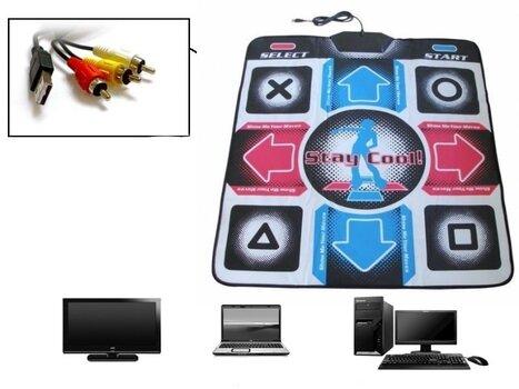 Šokių kilimėlis Step Mania (jungtis prie TV ir kompiuterio) kaina ir informacija | Sportas ir laisvalaikis | pigu.lt