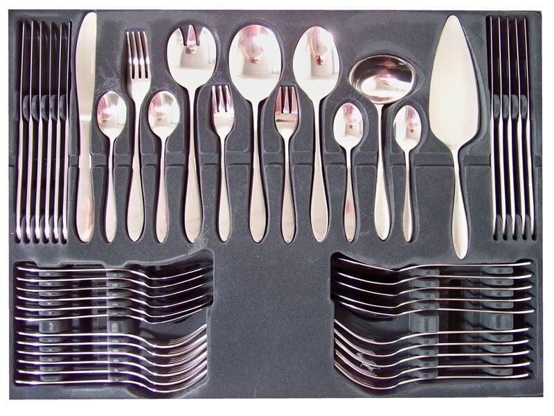 Stalo įrankių rinkinys, 60 dalių kaina ir informacija | Virtuvės, stalo įrankiai | pigu.lt
