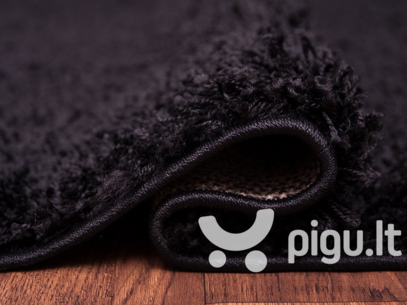 Kilimas Shaggy Black kaina ir informacija | Kilimai | pigu.lt