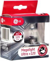 Automobilinės lemputės General Electric H7 Megalight Ultra +120 12V 55W