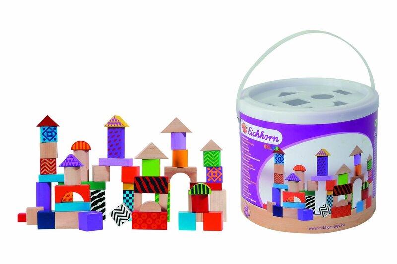 Medinės kaladėlės Einchhorn kaina ir informacija | Lavinamieji žaislai | pigu.lt