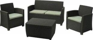 AlliBert plastikinių lauko baldų komplektas Corona pilkas kaina ir informacija | Lauko supynės | pigu.lt