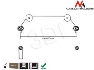 Maclean MC-557 Extra Slim Quality Wall TV Screen Mount Bracket 32-70 50kg